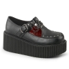 CREEPER-215 Black Vegan Leather